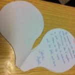 Libricino di poesie a forma di mongolfiera