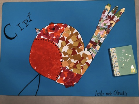 Il poster dei bambini del Nido Olivetti di Ivrea