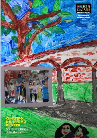 Chiostro del  Duomo di Ivrea: rielaborazione scuola infanzia di Bollengo