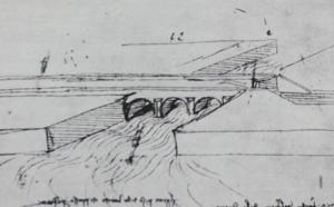 Il naviglio di Ivrea in un disegno di Leonardo
